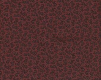 Thimbleberries Fabric, Paint Box Club 2002/2003, Vine Print on Red, 1/2 yard