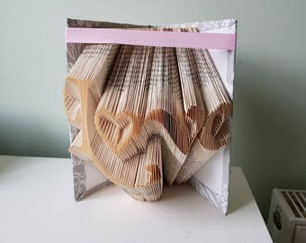 Love folded book art *can be personalised*