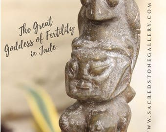 Jade Carved Fertility Goddess