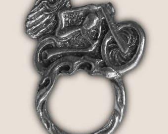 RIDING ANGEL SUNGLASS holder pin biker pin guardian bell gremlin