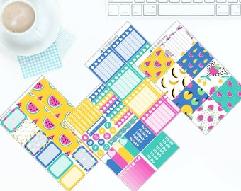 Summer Fruit - Weekly Kit Stickers for Erin Condren Vertical LifePlanner