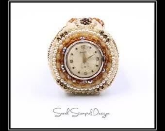 Bead Embroidery Watch Cuff