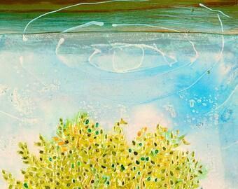 Olive tree - Giclee Print on Canvas, Wall art canvas, Healing Meditative Art, Living Room Decor, Fine Art