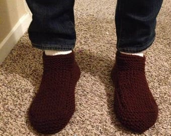 Men's Handmade Knit Slippers-Made to Order