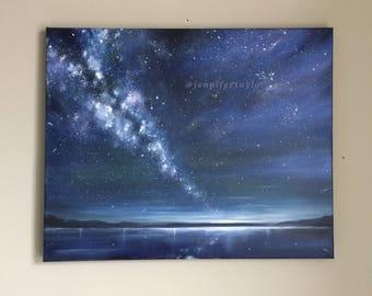 Where The Stars Fall - Milky Way Original Painting -50cm x 40cm