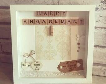 Personalised Engagement Photo Frame Keepsake