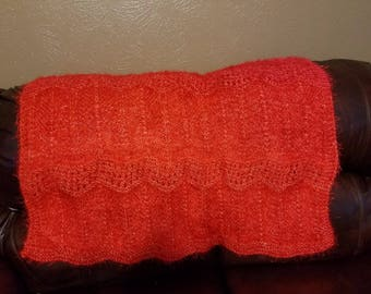 Red Acrylic very soft afghan/throw