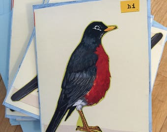 Hi Robin Blank Boxed Note Cards