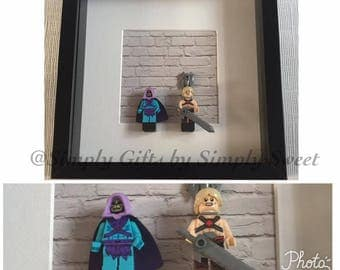 He Man Skeletor Masters of the Universe Minifig frame 'I have the power'