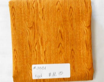 Fabric -1yd piece-Landscape/Gold Woodgrain/golden yellow honey colored/Elizabeth's Studio patt# 481 (#3331)