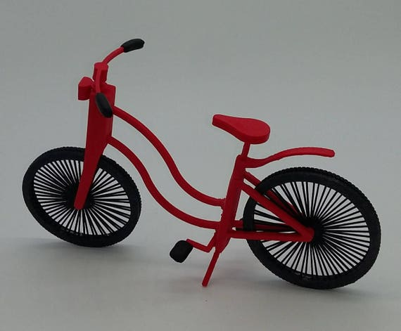Red bike for Ball jointed Zisa Doll