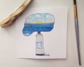 Ocean in a Bottle Painting