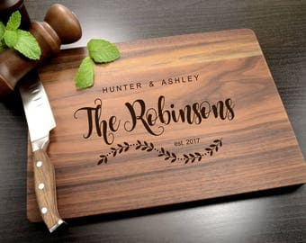Personalized Cutting Board - Custom Wedding Gift - Engraved Wooden Cutting Board - Housewarming Gift - Anniversary Gift - Christmas