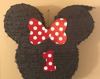 Minnie Mouse With Number Pinata