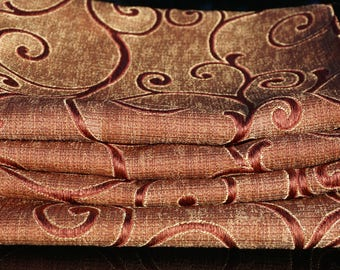 Rectangular Luxury  Gold/Red (Paprika)  Brocade Table Runner/Luxury All Occasions  Table Runner/ Chemin de table toute occasion
