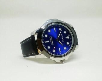 Men's Watch Women's Watch Genuine Leather Watch Black Watch Birthday Gift Wedding For Him Husband Gift Anniversary Gift Quartz Christmas
