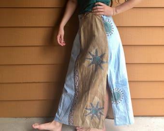 Long Ying- Yang Recycled Skirt