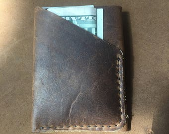 Bison leather Mens/womens wallet card holder