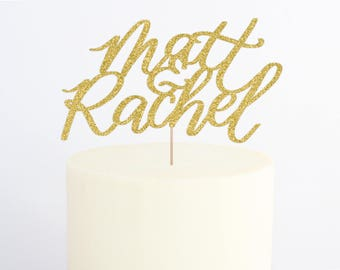 Wedding Cake Topper / Wedding Decorations / Glitter Cake Topper / Cake Topper