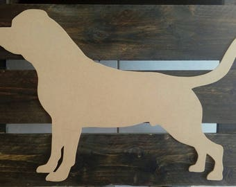 Rottweiler silhouette wood scalloped paint medium
