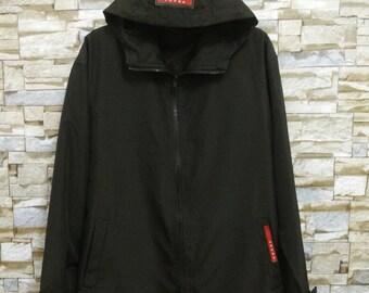 Vintage PRADA Jacket Coat Hoodie Windbreaker Art Made in Italy Prada