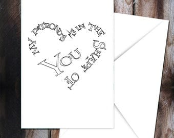 Harry Potter Love Card, My Patronus is in the Shape of You, Greeting Card, Hogwarts