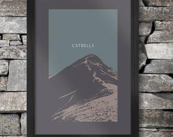 Catbells Poster Print - The Lake District