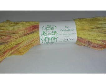 Indian Corn Sport Weight Hand Dyed Yarn Custom Color Pattern 100g Skein