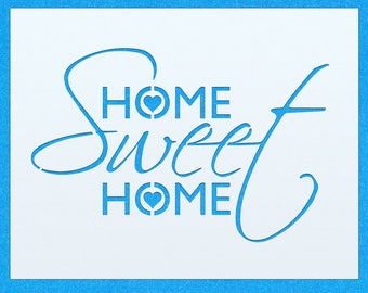 Home Sweet Home Vintage Shabby Chic Mylar Painting Wall Art Stencil