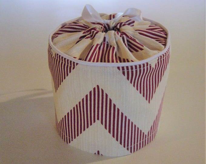 Toilet Paper Storage Bathroom Decor, Toilet Paper Cover, Chevron Bathroom Decor,