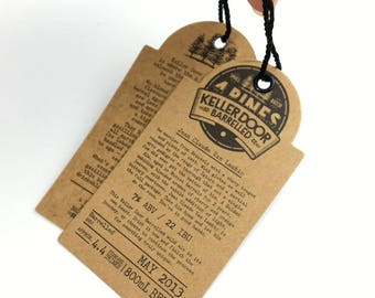 custom paper gift tags, gift hang tags, kraft gift tags