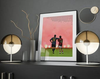 AC Milan & Internazionale Poster, Football Wall Art, Instant Download Printable
