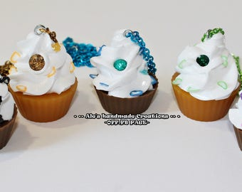 Resin and Silicone ' Cupcake ' necklaces (5 different pieces)
