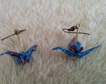 """Birds in flight"" earrings"