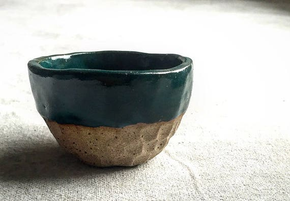 Spring Stream Carved Pinch Bowl