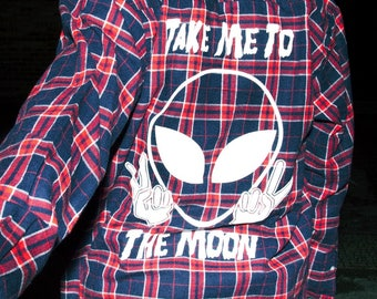 Take Me To The Moon Flannel
