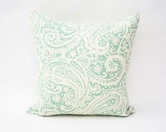 Pillow Cover | Aqua & Cream | ALPHONSINA