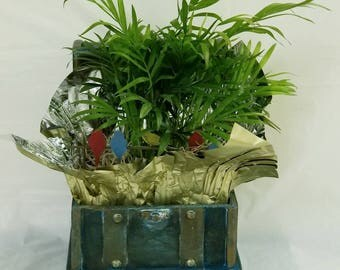 """Small BLUE Wood Coffret from """"PETITS TRESORS"""" Spring 2018"""