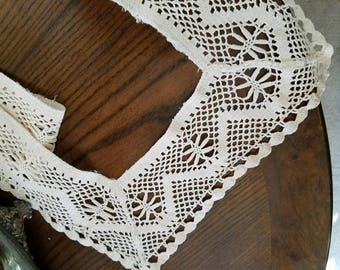 Lacy Border – Finished – 40 Inches by 13 Inches