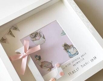 Peter rabbit beatrix potter nursery frame