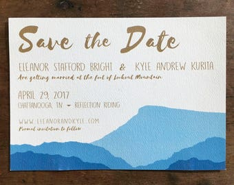 Custom Lookout Mountain Save the Date/Invitation -- Chattanooga, TN