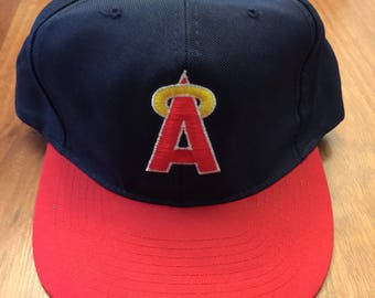 Vintage California Angels American Needle Snapback Navy Blue Red