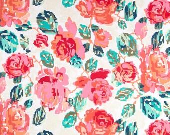 pixel floral shorts