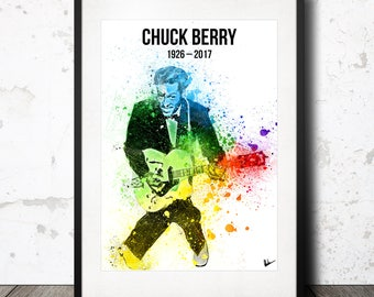 Chuck Berry Artwork Poster Print - Limited Edition