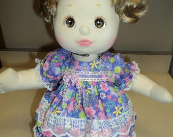 My Child Doll Outfit / Dress - Lavender and Pink Floral