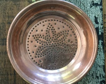 Vintage French Copper Passoire (Strainer) - Free Postage within Australia