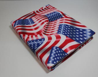 American Flag Book Sock Bookcover Stretchable Protector Agenda Organizer