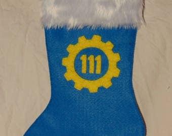 Fallout Vault 111 Christmas Stocking