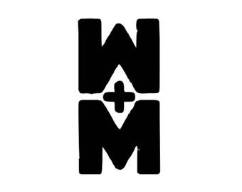 walk the moon band logo vinyl decal sticker