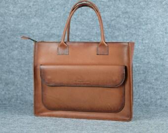 Women's messenger bag / Leather messenger, Leather shoulder bag, Womens laptop bag, Leather cross body bag, Leather messenger, leather purse